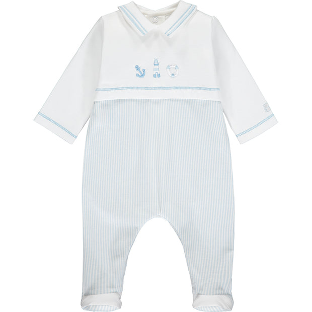 Walsh Blue Nautical Baby Boys Babygrow