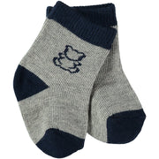 Alpine Boys Socks Twin Pack, Navy and Grey