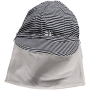 Aspen Jersey Suncap with detachable flap Navy and White