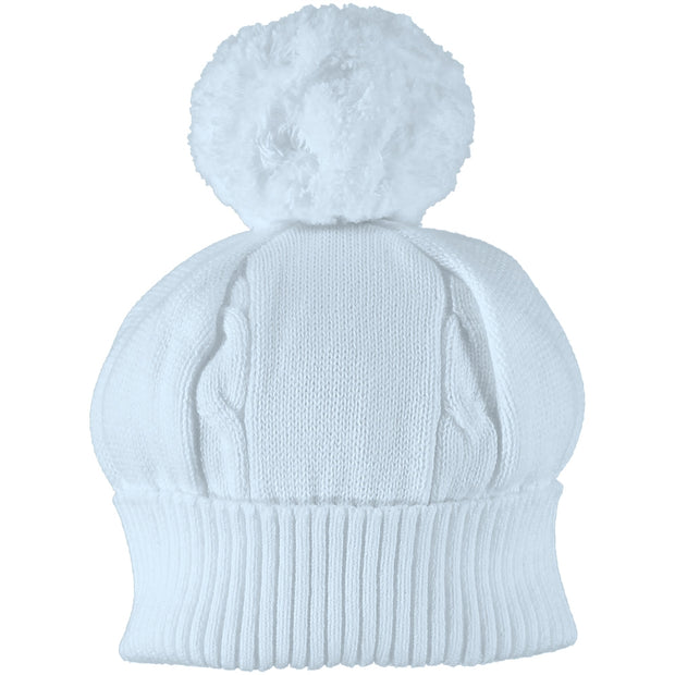 Fuzzy Bobble Hat, Pale Blue