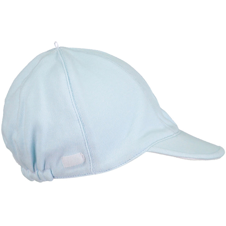 Aspen Jersey Suncap with detachable flap Pale Blue