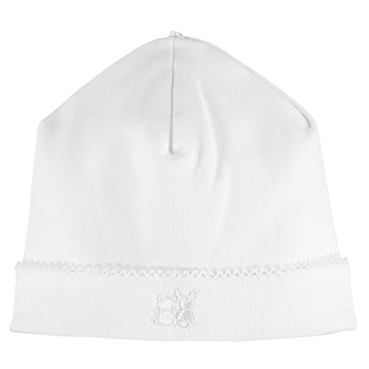 Baby Unisex White Pull On Hat