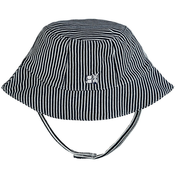 Selwyn Navy Striped Fishermans Hat