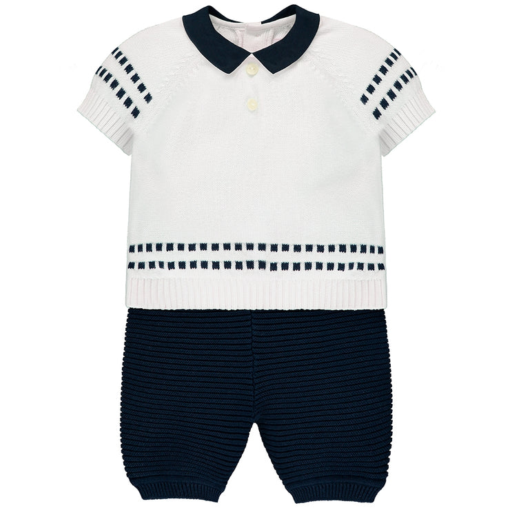 Sid Navy Knit Outfit Set