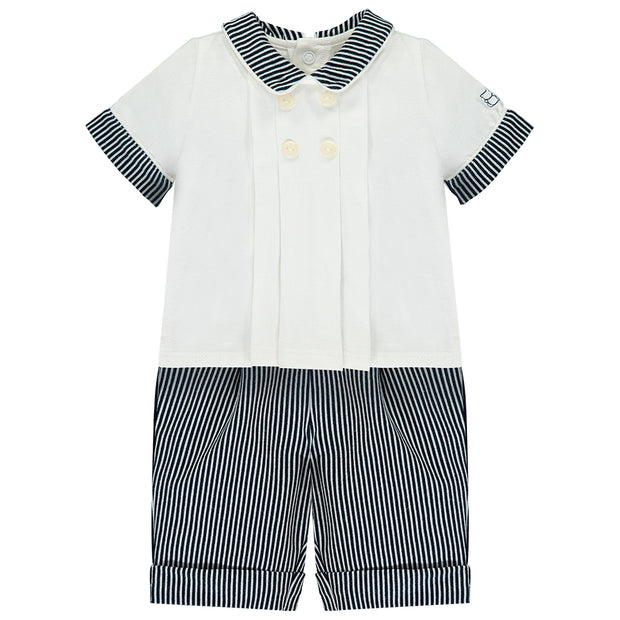 Sergio Navy Baby Boys Outfit Set