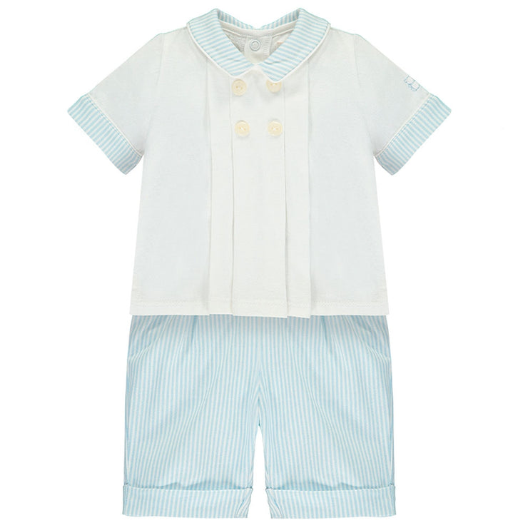 Sergio Blue Baby Boys Outfit Set
