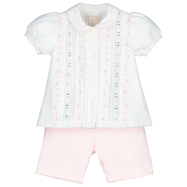 Sandie Girls Blouse & Shorts Set