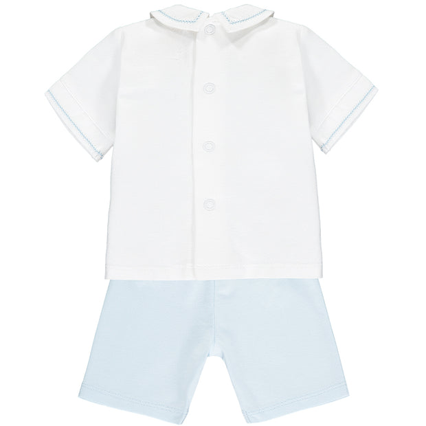 Wade Blue Baby Boys Short Set