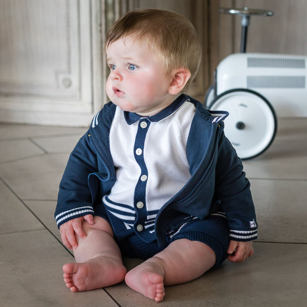 Webster Navy Casual Baby Jacket