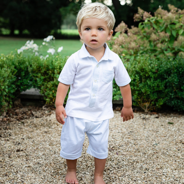 Weston Blue Baby Boys Short Set