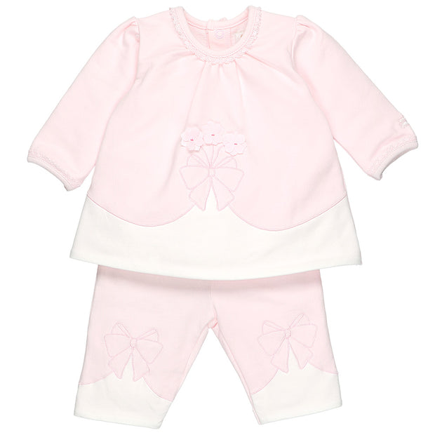 Rani Pink Bow Girls Trouser Set