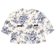 Rhonda Navy Floral Girls Trouser Set