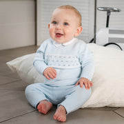 Wilkie Blue Knit Baby Boys Trouser Set