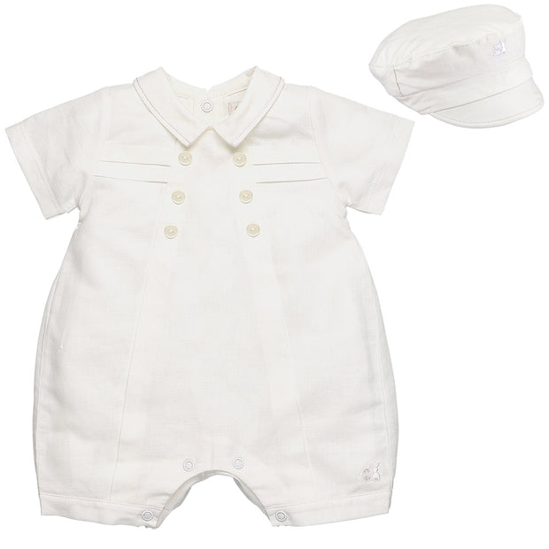 Pierre Traditional Nautical Baby Boys Romper