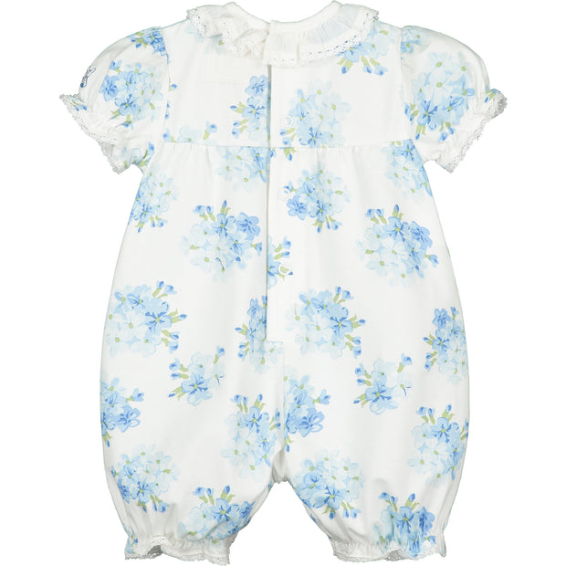West Navy Floral Baby Girls Romper