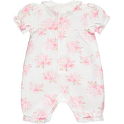 West Pink Floral Baby Girls Romper