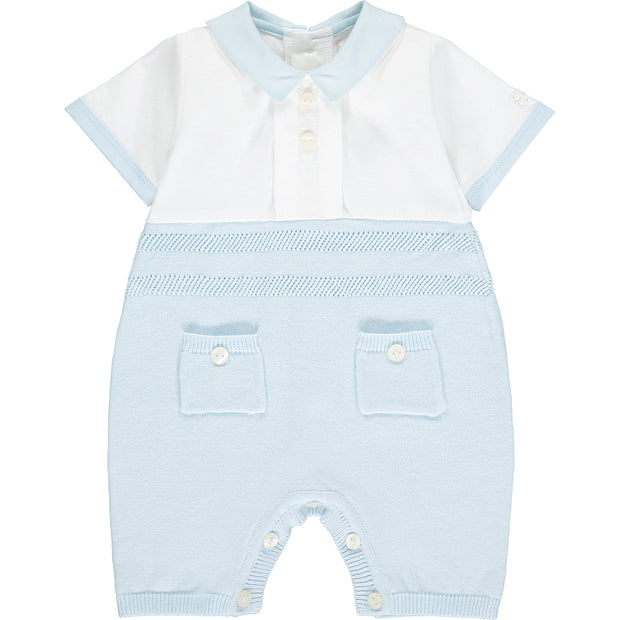 William Cute Knit Baby Romper