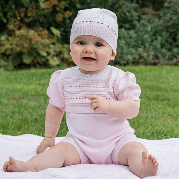 Wendy Knitted Baby Girls Romper