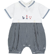 Wagner Nautical Baby Boys Romper