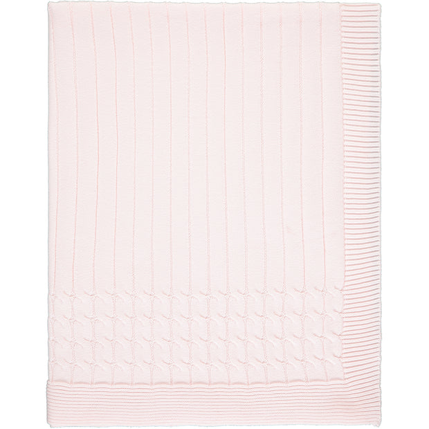 Gillian Pink Knit Baby Blanket