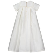 Samuel Silk Traditional Baby Boy Robe, Ivory