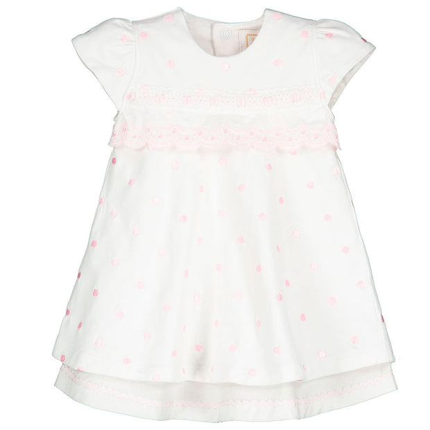 Sheree Pink Spotty Baby Dress