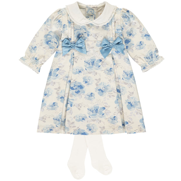 Trinnie Navy Floral Traditional Baby Dress