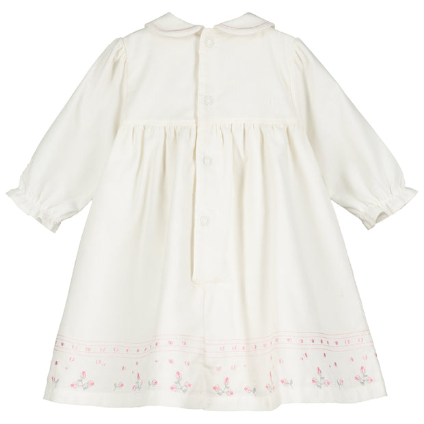 Toni Ivory Floral Corduroy Dress