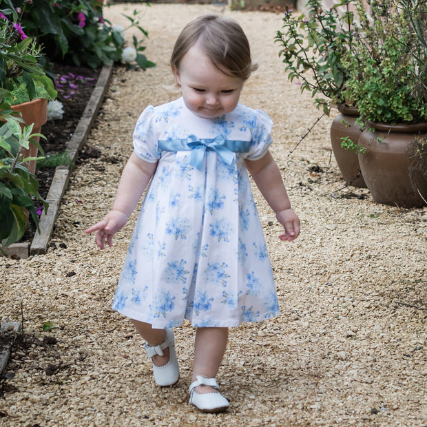 Wednesday Navy Floral Baby Dress