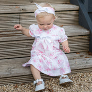 Wednesday Pink Floral Baby Dress