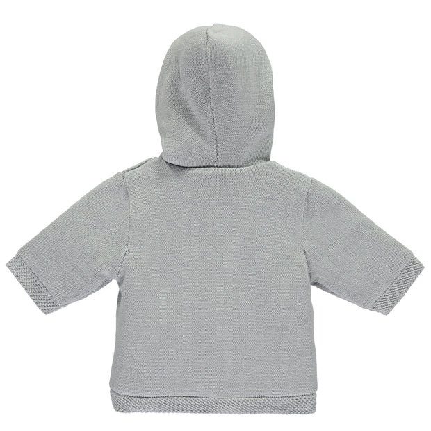 Lee Grey Cosy Baby Boy Knit Jacket