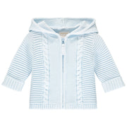 Norris Blue Baby Boys Knit Zip Up Jacket