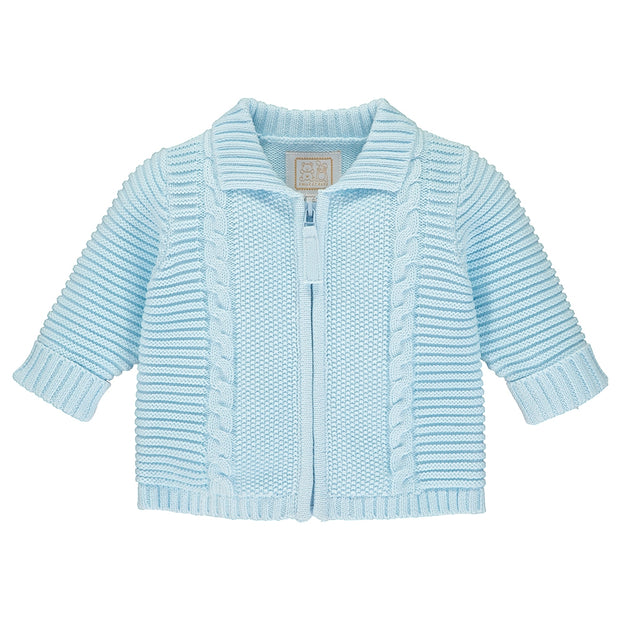 Steve Baby Blue Knit Jacket