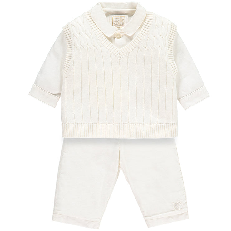 Gulliver Smart Baby Boys Ivory Three Piece Set