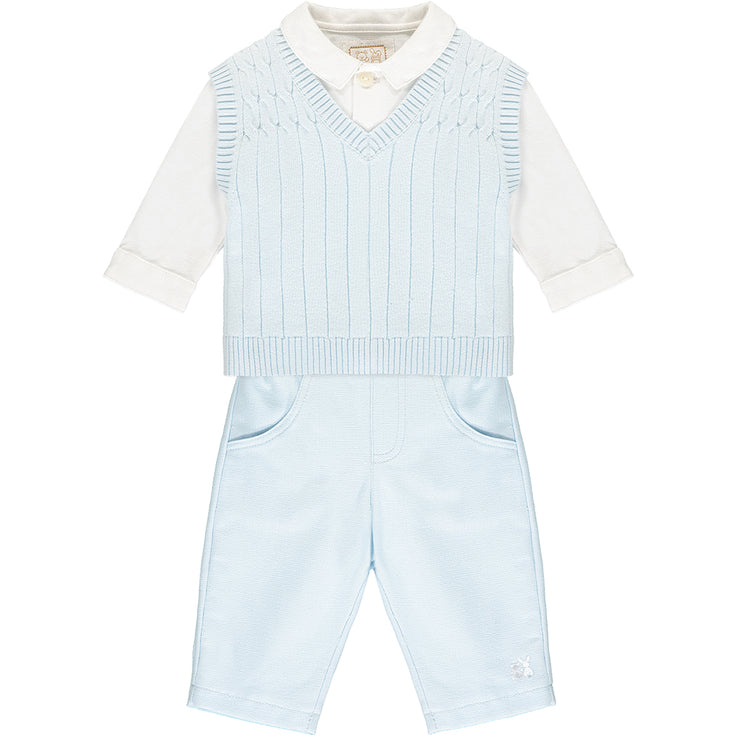 Gulliver Smart Baby Boys Blue Three Piece Set