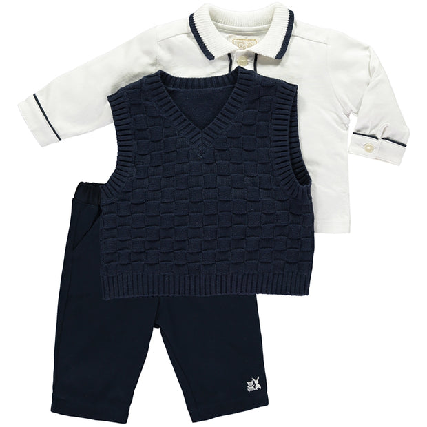 Layton Navy Boys Smart Three Piece Outfit