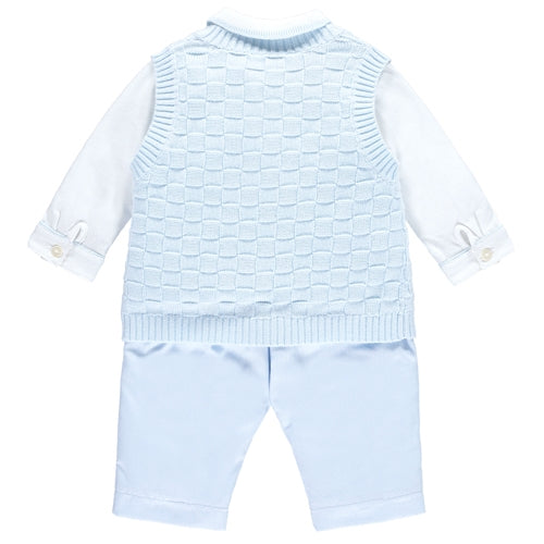 Layton Blue Boys Smart Three Piece Outfit