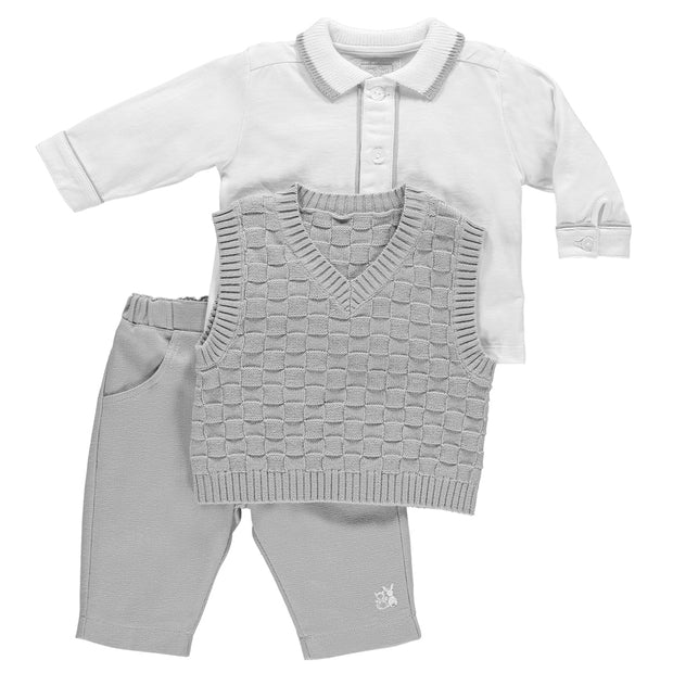 Lazarus Grey Boys Smart Three Piece Outfit