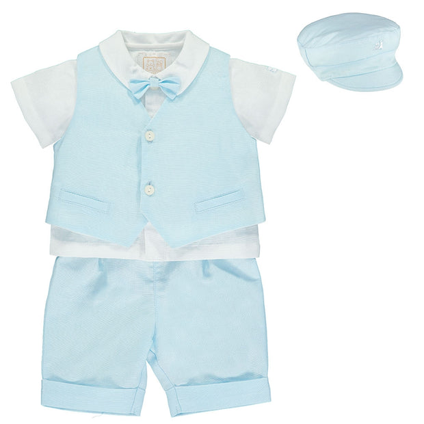 Perry Blue Baby Boys Outfit Set