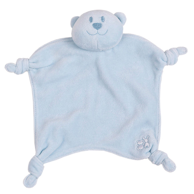 Velour Emile Bear Comforter, Blue