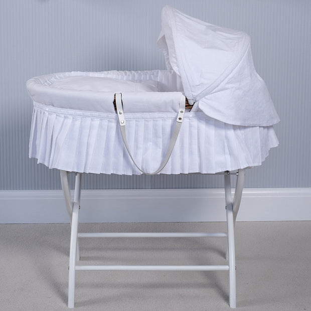 Emile et Rose Moses Basket, White