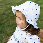 Sera Navy Spotty Sunhat