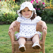 Sheree Navy Spotty Baby Dress