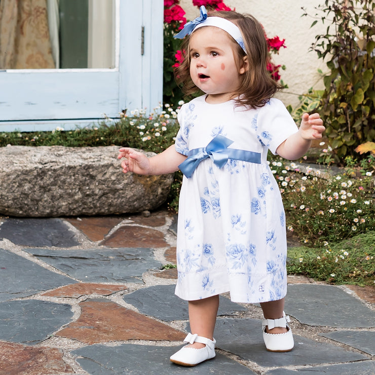 Simone Navy Floral Baby Dress