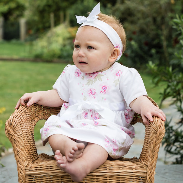 Simone Pink Floral Baby Dress