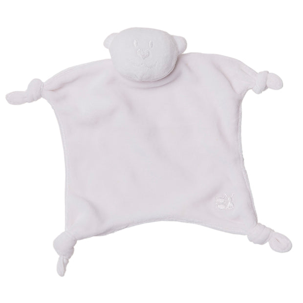 Velour Emile bear Comforter, White