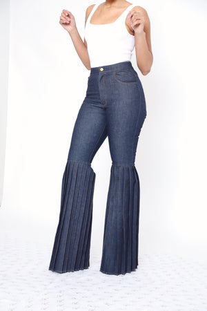 Cody Pleated Pants - Dark Blue Hue