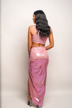 Champagne Showers | Sparkling Pink Cover Up Skirt