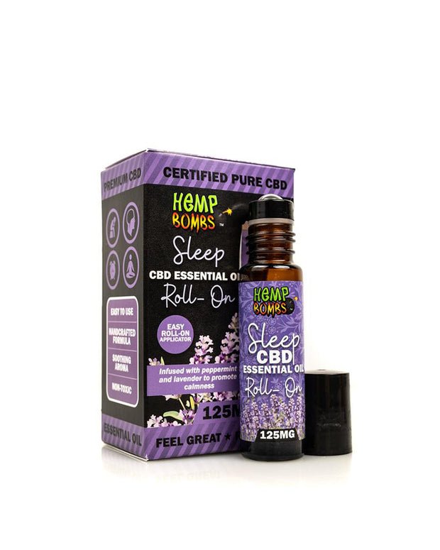 Hemp Bombs CBD Essential Oil Roller - Sleep Blend - 125mg