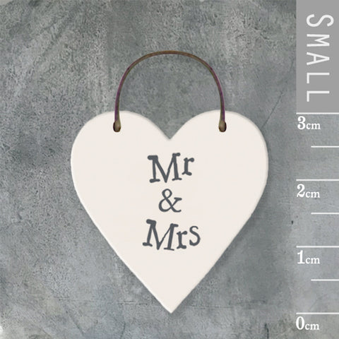 Mr & Mrs Mini Keepsake Heart